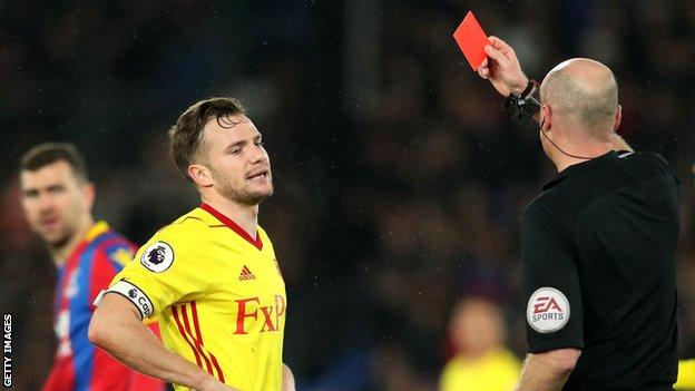 Tom Cleverley sent off