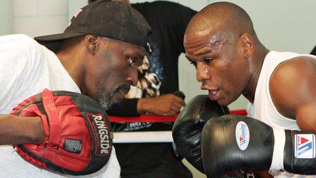 Roger Mayweather and Floyd Mayweather