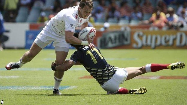 Jack Wilson in action for England in Sydney