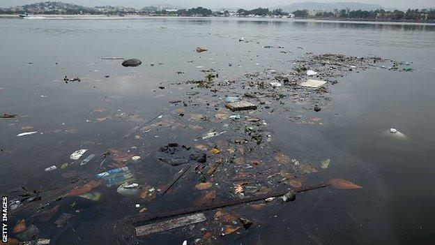 Pollution at Guanabara Bay
