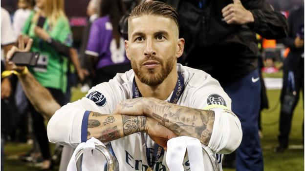 60b65bb55 Real Madrid captain Sergio Ramos  did not breach anti-doping rules  after Champions  League final - BBC Sport