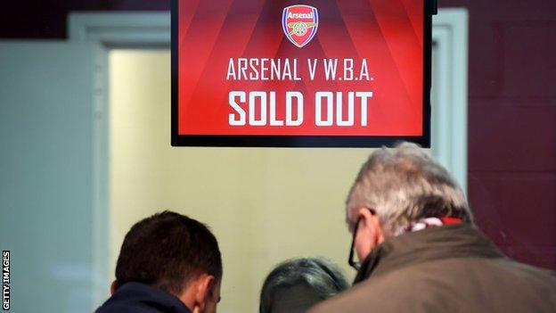 Arsenal ticket office