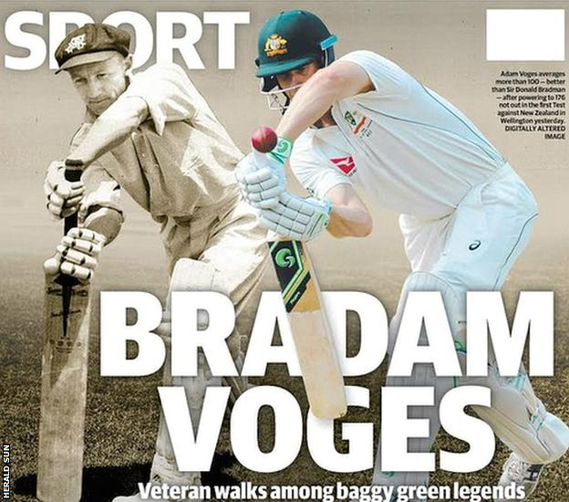 Herald Sun front page