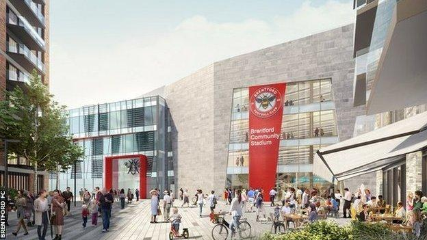 Brentford hope to be in their new home at Lionel Road for the 2020-21 season