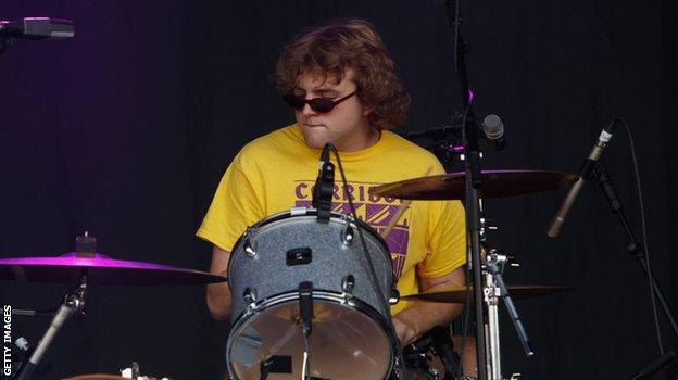 Shame drummer Charlie Forbes