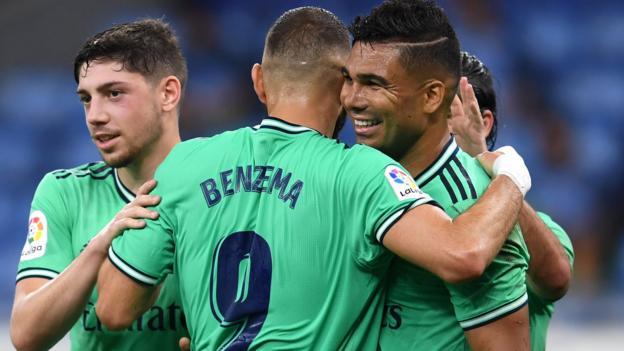 Real Madrid high of La Liga after beating Espanyol thumbnail