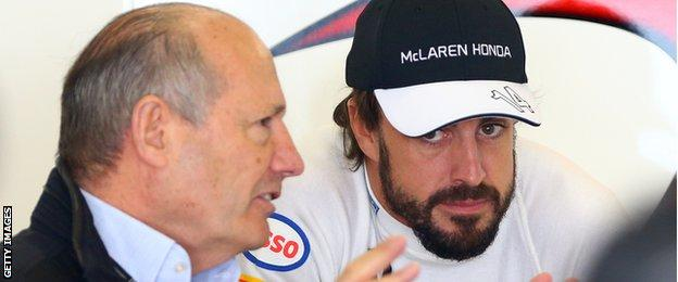 Ron Dennis and Fernando Alonso