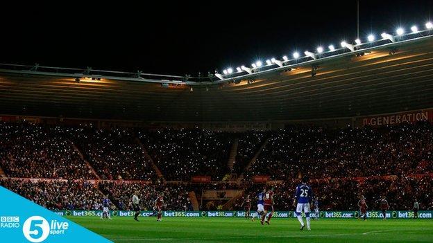 Light display in tribute to BBC Tees commentator Ali Brownwlee