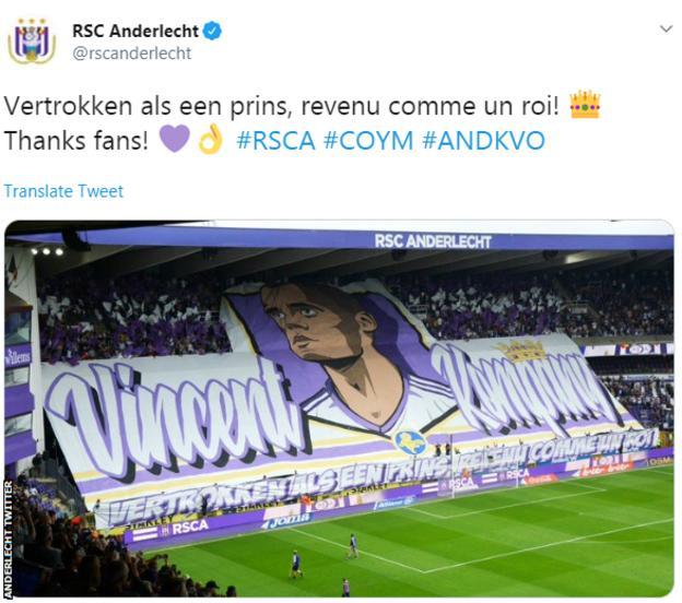 Anderlecht tweet