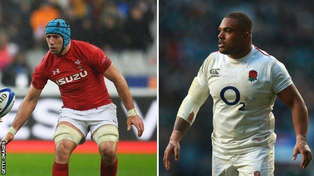 A split picture of Justin Tipuric and Kyle Sinckler