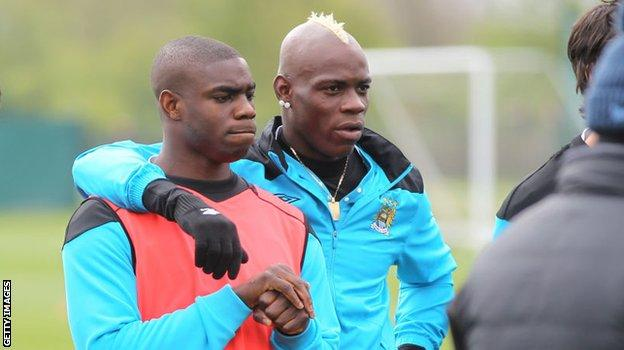 Micah Richards and Mario Balotelli