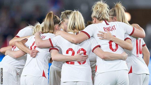 The England team at the 2020 She Believes Cup