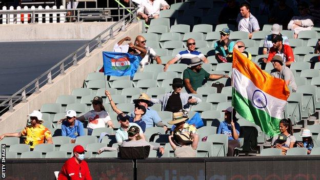 India supporters at Adelaide Oval