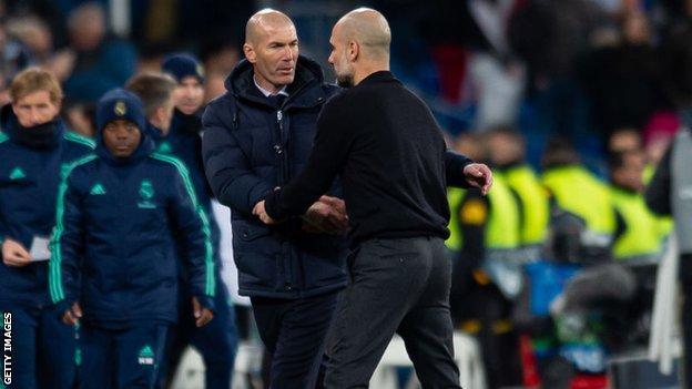 Pep Guardiola and Zinedine Zidane