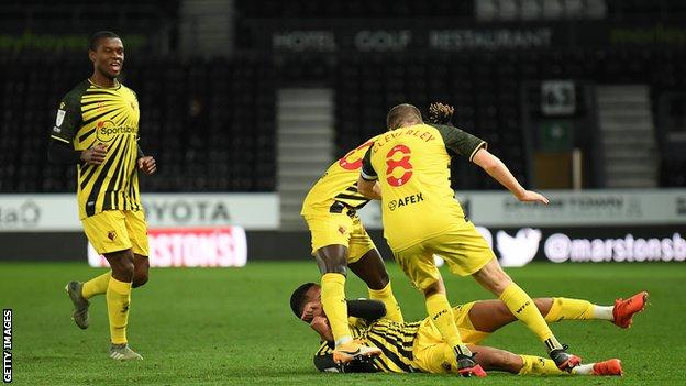 Derby County 0 1 Watford Joao Pedro Curler Gives Hornets Victory Bbc Sport