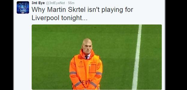 And Twitter was awash with rumours of why defender Martin Skrtel wasn't playing for Liverpool against Sion