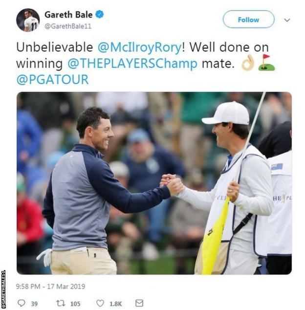Gareth Bale Twitter account