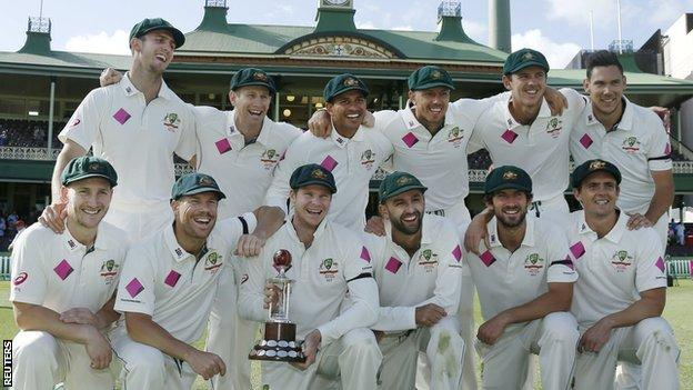 Australia with the Frank Worrell Trophy
