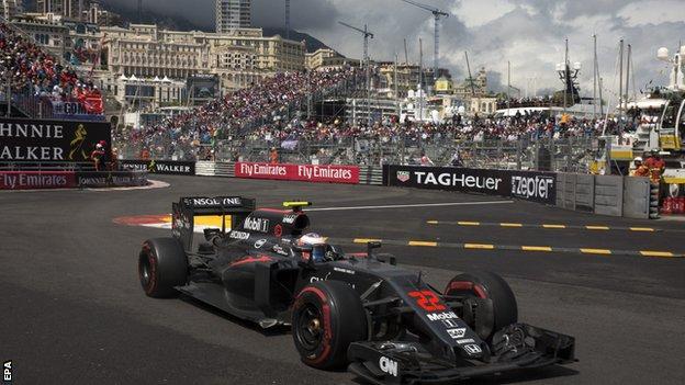 Jenson Button at the Monaco GP
