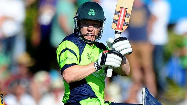 Niall O'Brien top-scored for Ireland in Tuesday's final T20 game against Papua New Guinea