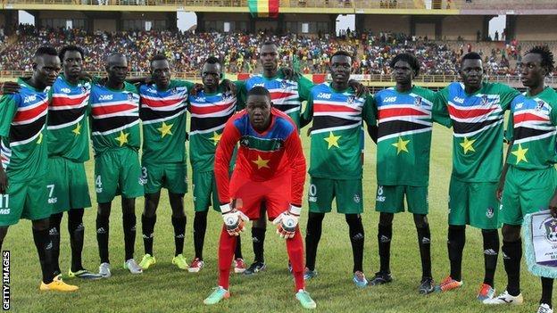 South Sudan's players