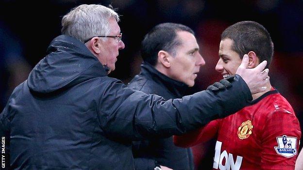 Sir Alex Ferguson and Javier Hernandez