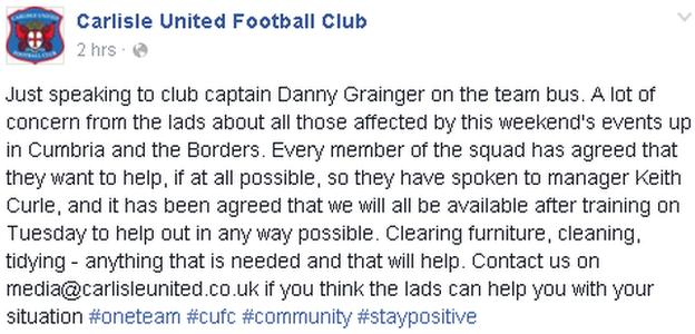 Carlisle United on Facebook
