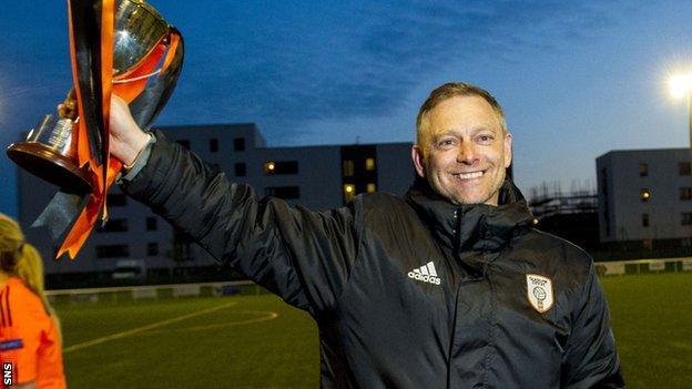 Eddie Wolecki Black celebrates with Glasgow City