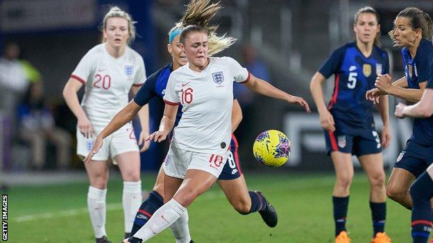 England face the United States in the SheBelieves Cup