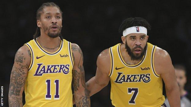 Lakers forwards Michael Beasley and Javale McGee