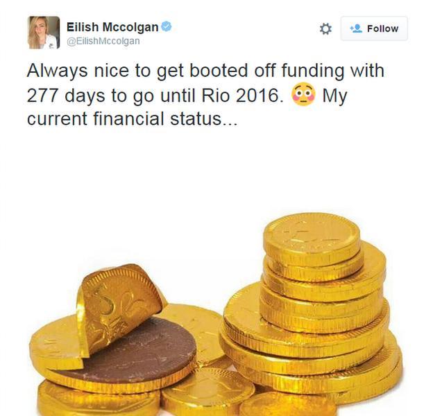 Tweet from Eilish McColgan