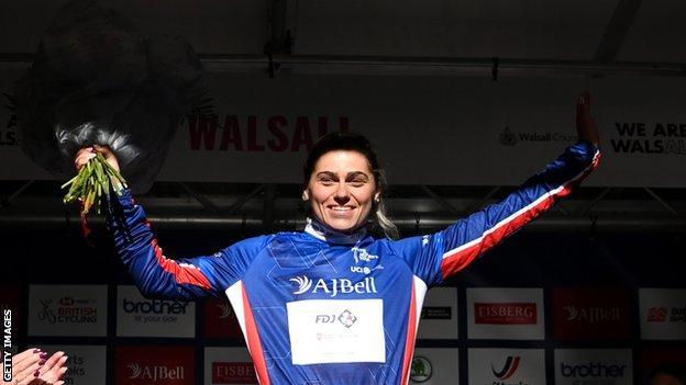 Clara Copponi on the podium