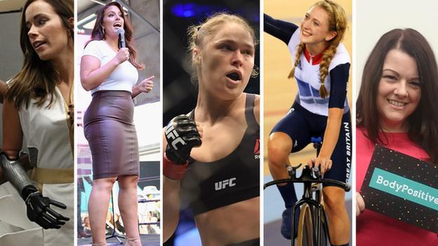 Rebekah Marine, Ashley Graham, Ronda Rousey, Laura Trott, Annika McDonald