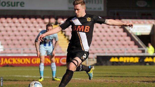 Port Vale defender Adam Yates