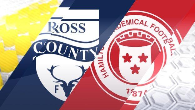 Ross County v Hamilton Academical