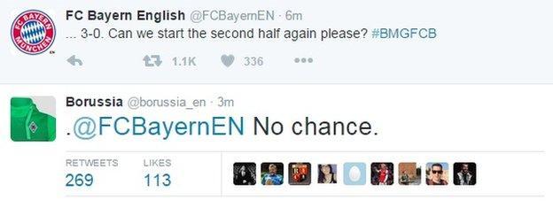 Borussia Monchengladbach 3 Bayern Munich 0