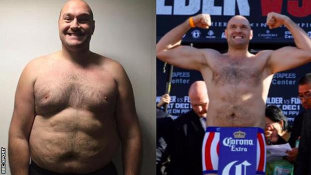 Tyson Fury transformation