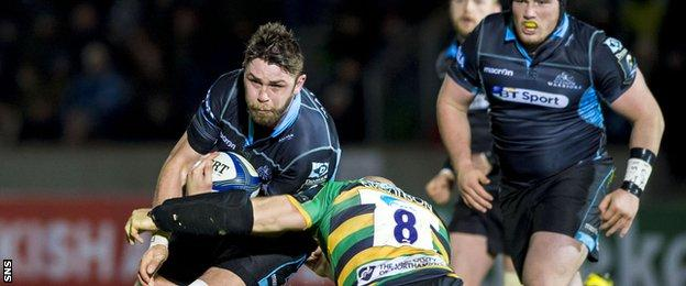 Ryan Wilson on action for Glasgow Warriors
