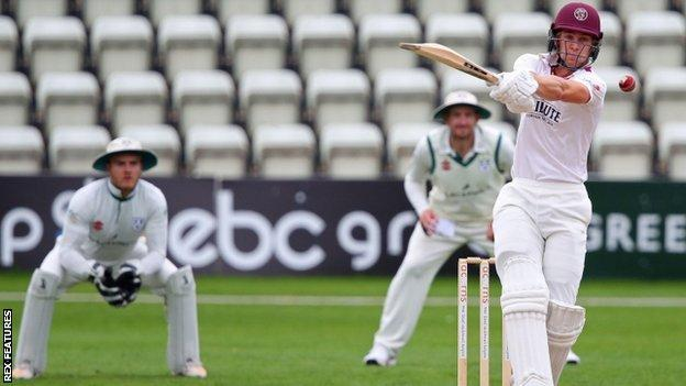 Tom Lammonby's achievement in carrying his bat on third day at Worcester to hit 107 not out in Somerset's 193 won his side the match