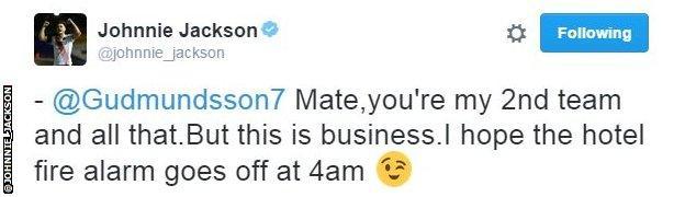 Johnnie Jackson Twitter