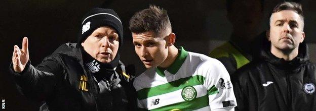 Patryk Kilmala made his Celtic debut in the final few minutes