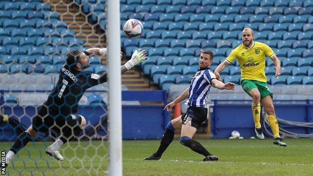 Teemu Pukki scores Norwich's equaliser