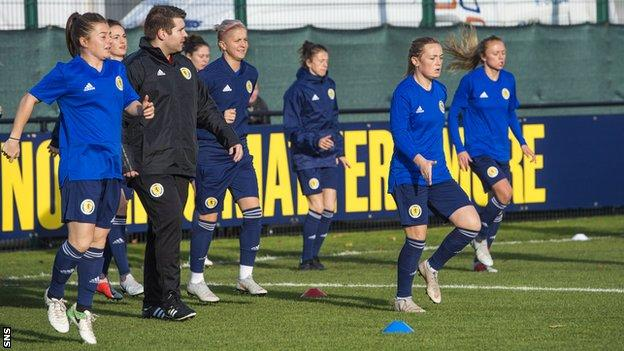 """Shelley Kerr says her squad have been """"fantastic"""" in training despite injury absences"""