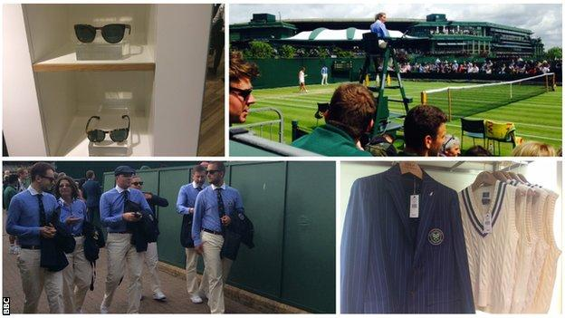 Umpires and officials at Wimbledon