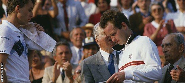 Ivan lendl and John McEnroe
