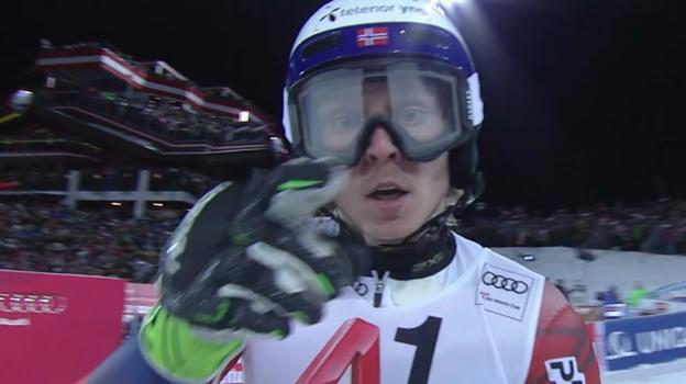 Alpine Skiing World Cup: Henrik Kristoffersen targeted by snowballs in Schladming
