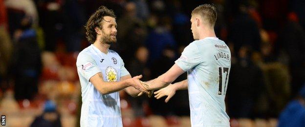 Partick's Danny Seabourne (left) and Liam Lindsay