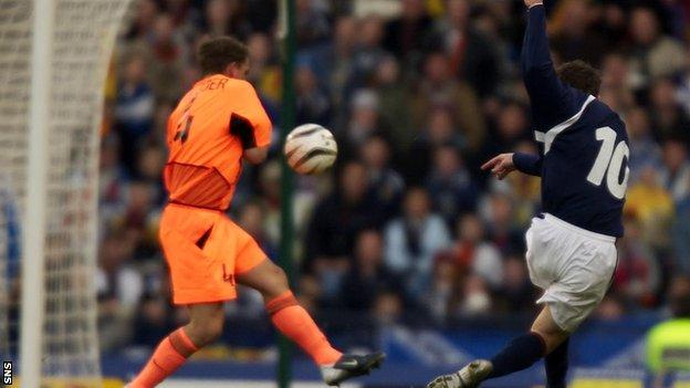 Scotland score against Netherlands in 2003