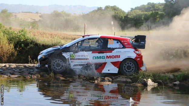 Elfyn Evans lost time after his engine cut out in the water on the final stage