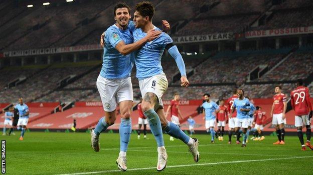 Manchester City centre-backs Ruben Dias and John Stones